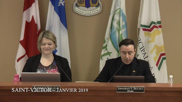 Conseil municipal de Saint-Victor - Janvier 2019