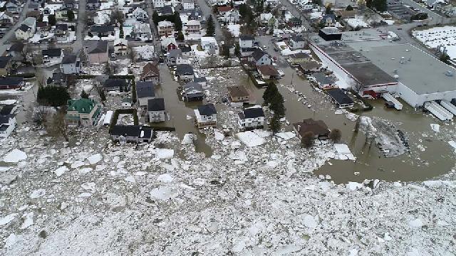 Images aériennes - Inondation à Beauceville du 16 avril 2019