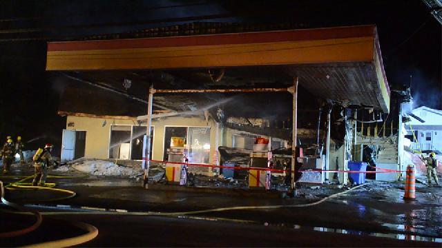 La station-service Shell est la proie des flammes à Robertsonville