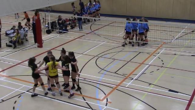 Demi-finale 2019 des Condors en volleyball féminin 16u