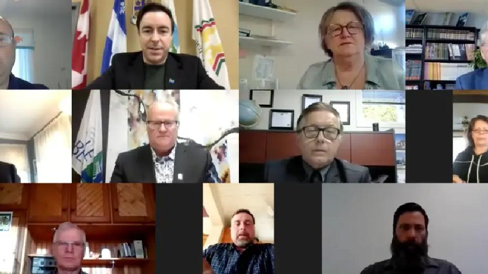 Séance du conseil des maires de la MRC Robert-Cliche de mai 2020