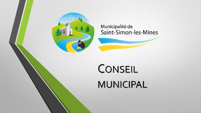 Conseil municipal de Saint-Simon-les-mines du 12 novembre 2019