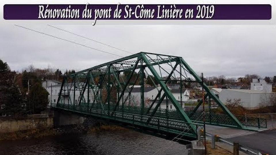 Rénovations du pont de St Côme Linière en 2019