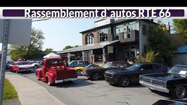 Rassemblement d'autos RTE 66