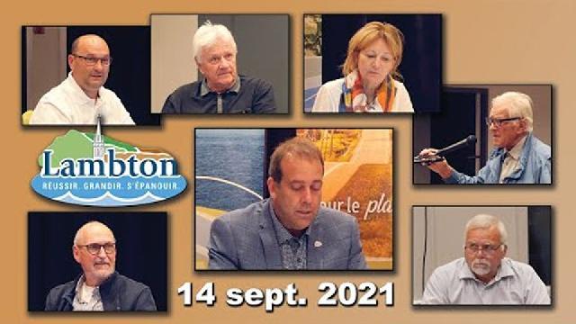 Conseil municipal de Lambton du 14 septembre 2021