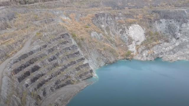 Drone au mine de Thetford Mines
