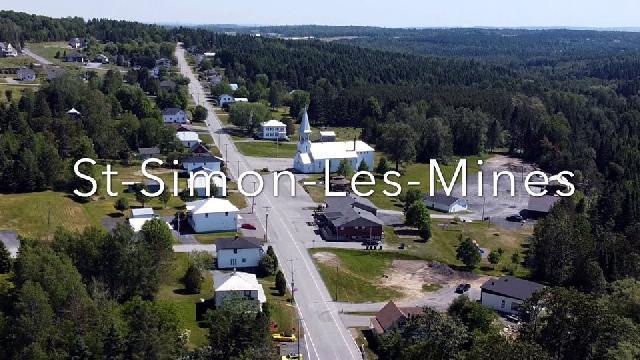 Saint-Simon-les-Mines vue des airs