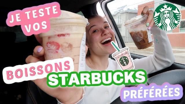Claudie Mercier - Je teste vos boissons Starbucks préférées pendant 1 semaine
