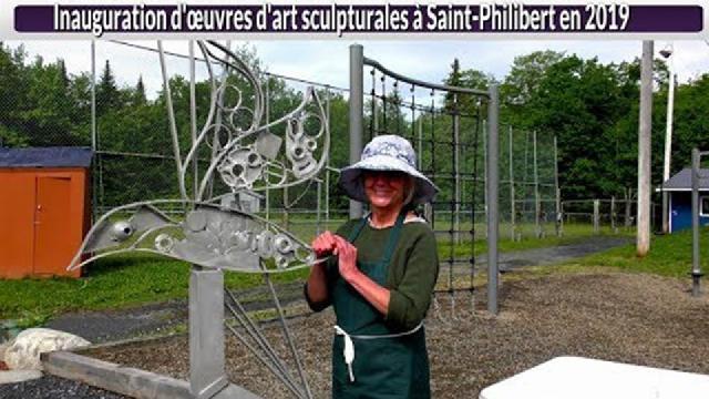 Inauguration d'œuvres d'art sculpturales à Saint-Philibert